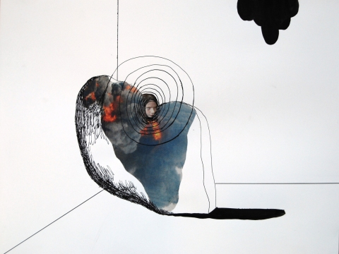 n.t. 2007 collage/ink 29,5 x 38,5 cm