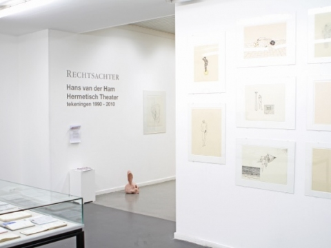 Hermetisch Theater, CBK Rotterdam 2010 Overview selection of 71 ink drawings, period 1990-2010