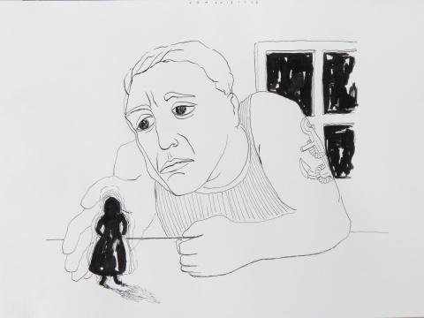 AIR LOOM 2017 ink 29,5 x 39 cm