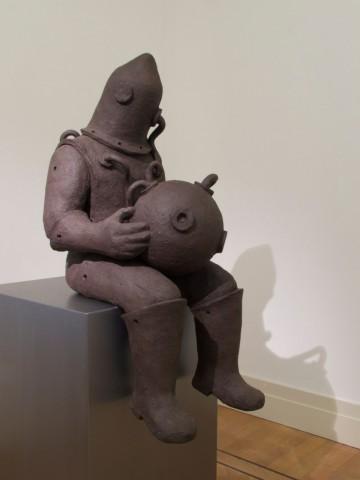 Museum Beelden aan Zee acquires: n.t. 2012 fired black clay H: 93 cm