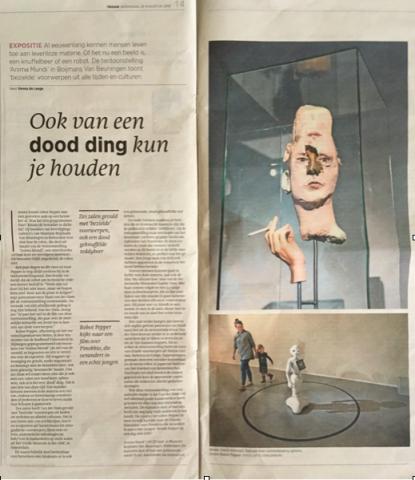 Trouw about ANIMA MUNDI Museum Boijmans Van Beuningen