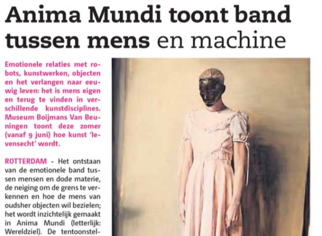Anima Mundi toont band tussen mens en machine