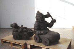 n.t. 2008 fired black clay H: 81 cm