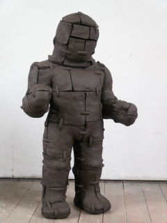 n.t. 2007 fired black clay H: 127 cm private collection Amsterdam
