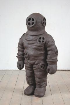 n.t. 2008 fired black clay H: 120 cm