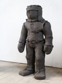 n.t. 2005 fired black clay H: 118 cm ENECO collection Rotterdam