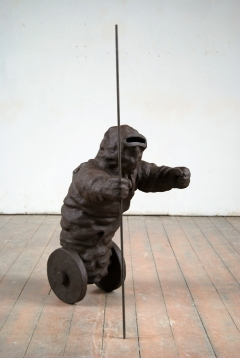 n.t. 2007 fired black clay/iron H: 123 cm collection Princessehof ceramics museum Leeuwarden