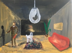 n.t. 2019 gouache on panel 31 x 41 cm