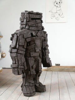 n.t. 2006 fired black clay H: 125 cm private collection Rotterdam