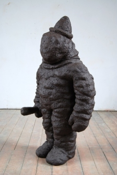 n.t. 2007 fired black clay H: 145 cm private collection The Hague