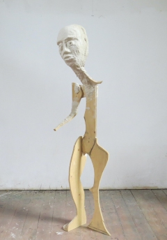 n.t. 2020 plaster/wood H: 193 cm