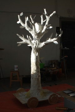 temporary assignment for Zaandam 2012 cacaobutter H: 200 cm