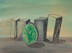 n.t. 2013 gouache on panel 31 x 41 cm