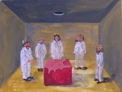 n.t. 2019 gouache on panel 38,5 x 51 cm
