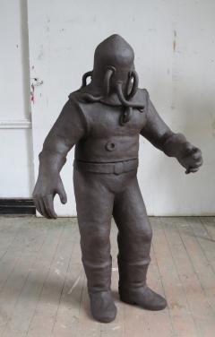 n.t. 2017 fired black clay H: 164 cm