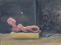 n.t. 2014 gouache on panel 31 x 41 cm