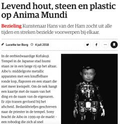 Levend hout, steen en plastic op Anima Mundi
