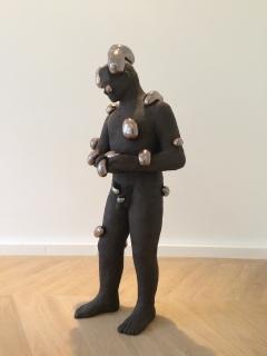 n.t. 2013 fired black clay H: 171 cm